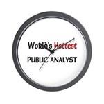 World's Hottest Public Analyst Wall Clock