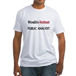 World's Hottest Public Analyst Fitted T-Shirt