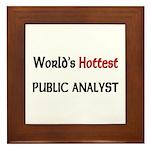 World's Hottest Public Analyst Framed Tile