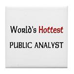 World's Hottest Public Analyst Tile Coaster
