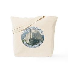 Half Dome Round Tote Bag
