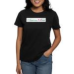Adoption Mama Pink/Green Logo Women's Dark T-Shirt