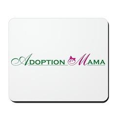 Adoption Mama Pink/Green Logo Mousepad