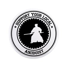"Support Aikidoist 3.5"" Button (100 pack)"