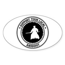 Support Aikidoist Oval Decal