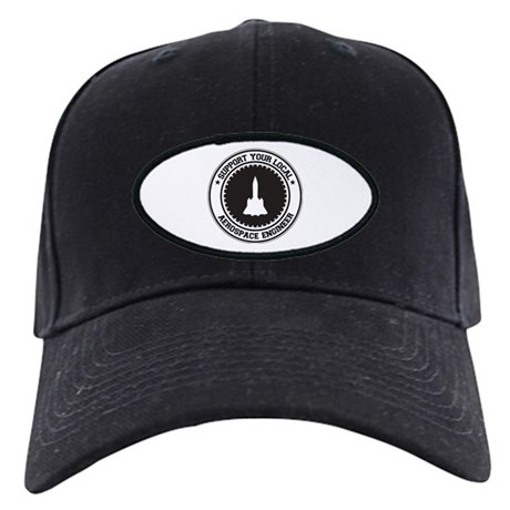 Support Aerospace Engineer Black Cap