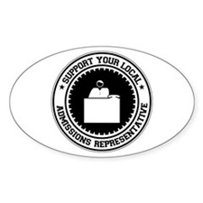 Support Admissions Representative Oval Decal