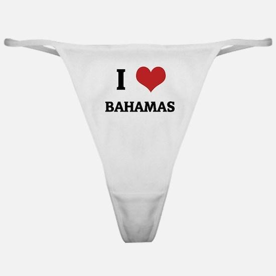 I Love Bahamas Classic Thong