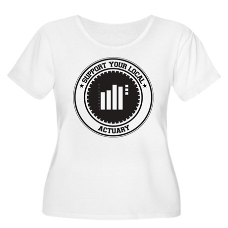 Support Actuary Women's Plus Size Scoop Neck T-Shi