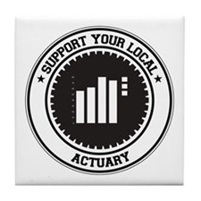 Support Actuary Tile Coaster