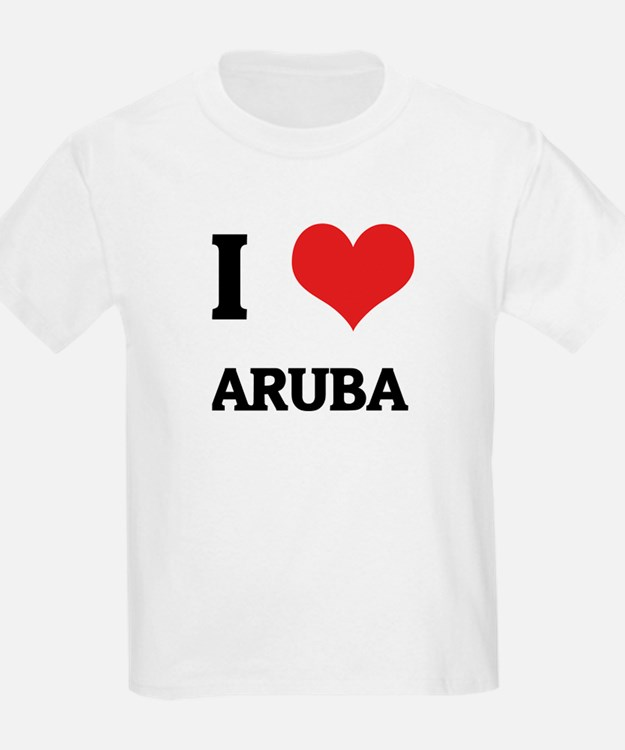 I Love Aruba Kids T-Shirt