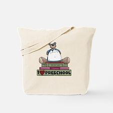 Bear and Books Preschool Tote Bag