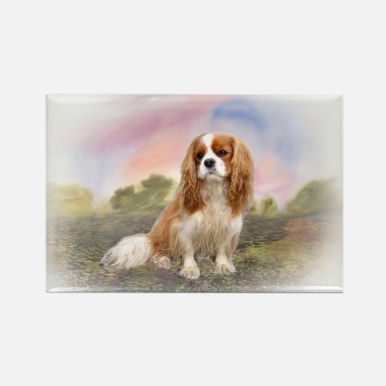 English Toy Spaniel portrait Rectangle Magnet