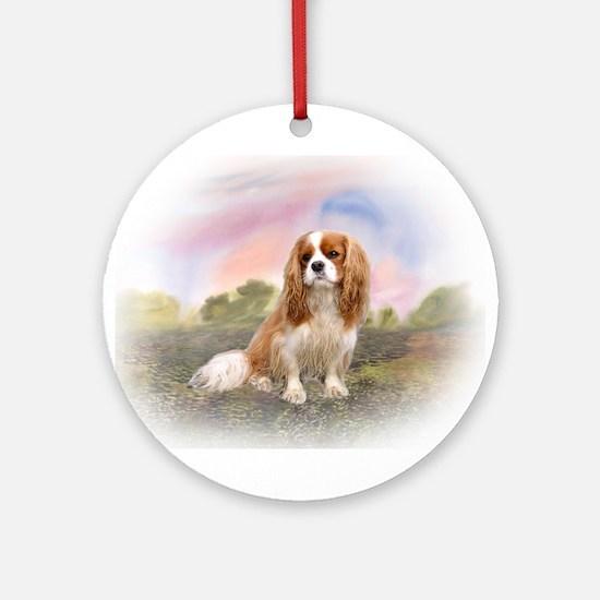 English Toy Spaniel portrait Ornament (Round)