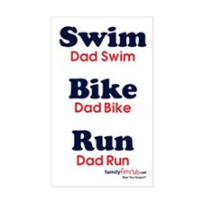 Triathlon Dad Rectangle Decal