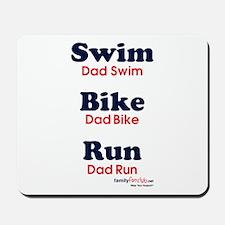 Triathlon Dad Mousepad