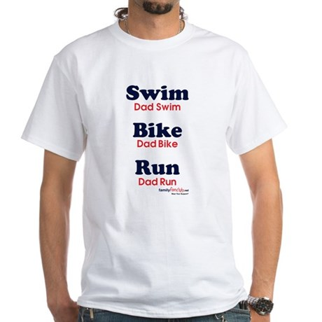 Triathlon Dad White T-Shirt