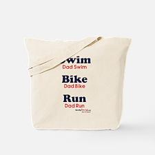 Triathlon Dad Tote Bag