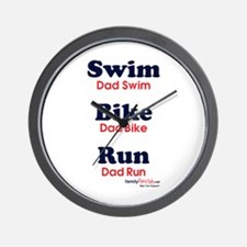 Triathlon Dad Wall Clock