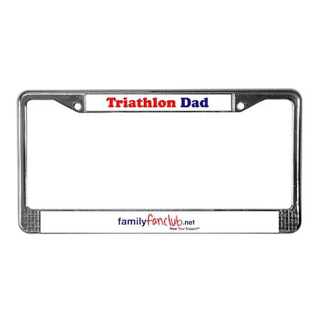 Triathlon Dad License Plate Frame