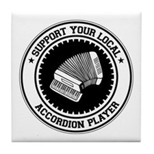 Support Accordion Player Tile Coaster