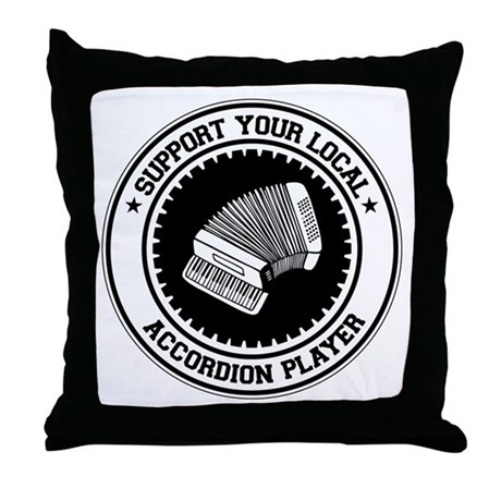 Support Accordion Player Throw Pillow