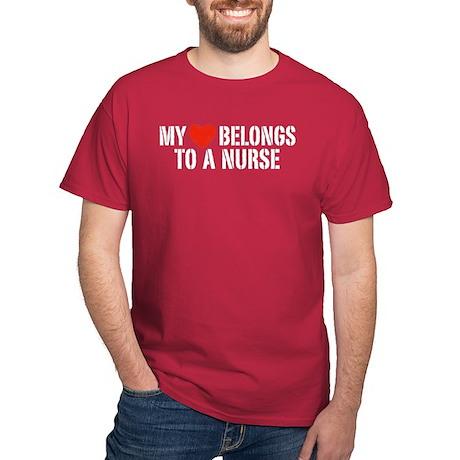 My Heart Belongs to a Nurse Dark T-Shirt