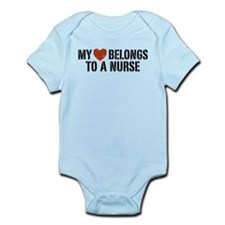 My Heart Belongs to a Nurse Infant Bodysuit