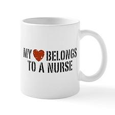 My Heart Belongs to a Nurse Small Mug