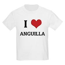 I Love Anguilla Kids T-Shirt