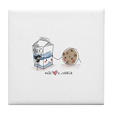 Milk Hearts Cookie Tile Coaster