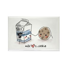 Milk Hearts Cookie Rectangle Magnet