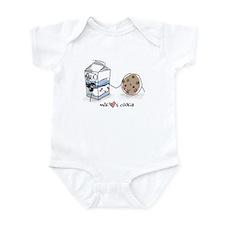 Milk Hearts Cookie Infant Bodysuit