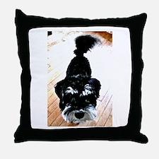 Nigel the Miniature Schnauzer Throw Pillow