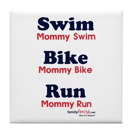 Triathlon Mommy Tile Coaster