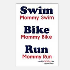 Triathlon Mommy Postcards (Package of 8)