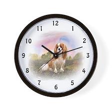 English Toy Spaniel portrait Wall Clock