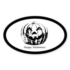 Halloween Oval Decal