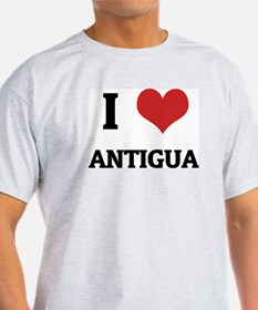 I Love Antigua Ash Grey T-Shirt