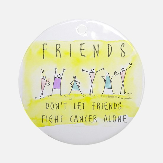 Cancer Friends Ornament (Round)
