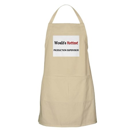 World's Hottest Production Supervisor BBQ Apron