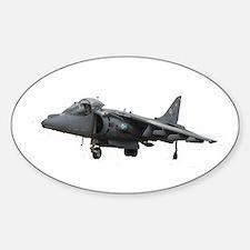 Harrier VTOL Jet Oval Stickers