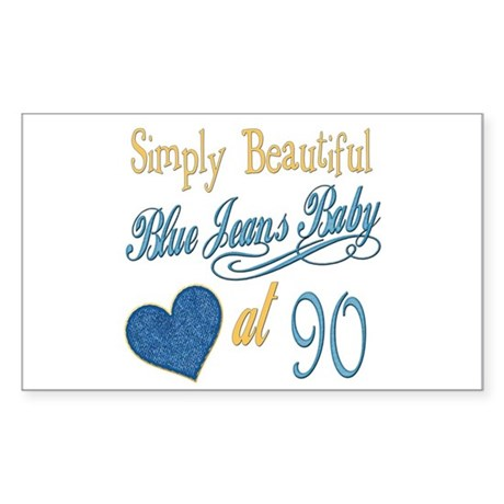 Blue Jeans 90th Rectangle Sticker