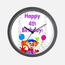 4th birthday Wall Clock