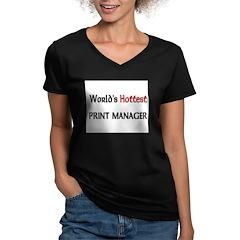 World's Hottest Print Manager Shirt