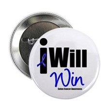 "Colon Cancer I Will Win 2.25"" Button"