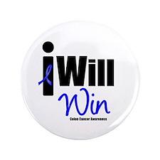 """Colon Cancer I Will Win 3.5"""" Button"""