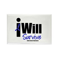 Colon Cancer I Will Survive Rectangle Magnet