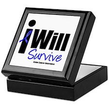 Colon Cancer I Will Survive Keepsake Box