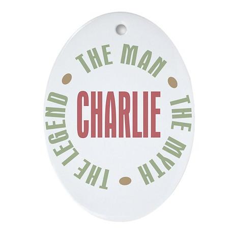 Charlie Man Myth Legend Oval Ornament